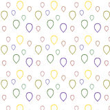 多彩多姿的气球等高 在一个空白背景 库存照片
