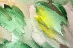 多彩多姿的水彩被绘的背景纹理 图库摄影