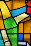 多彩多姿的污迹玻璃窗的图象与不规则的团体的 免版税库存图片
