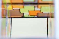 多彩多姿的污迹玻璃窗的图象 免版税图库摄影