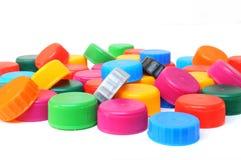 多彩多姿的瓶盖 免版税库存照片