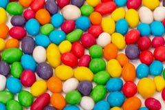 从多彩多姿的甜糖果的背景 免版税库存图片