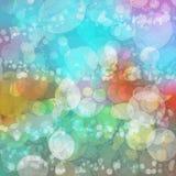 多彩多姿的生动的泡影阴影背景  向量例证