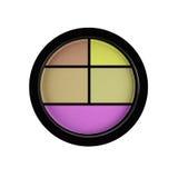 5多彩多姿的眼影隔绝在白色被隔绝的套 免版税库存图片