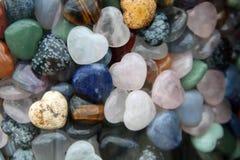 多彩多姿的石心脏 免版税库存图片