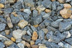 多彩多姿的石渣 库存照片