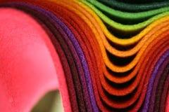 多彩多姿的织品 库存图片