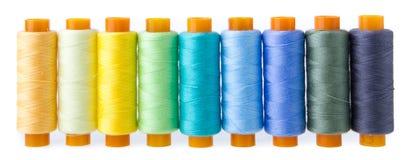 多彩多姿的缝合针线 库存照片