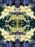 多彩多姿的花卉元素的无缝的抽象样式 库存例证