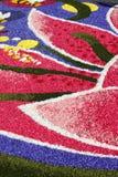 多彩多姿的花卉地毯 免版税库存照片