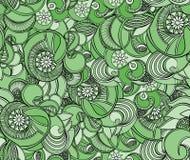 多彩多姿的花卉无缝的纹理,波浪 高雅背景 向量例证
