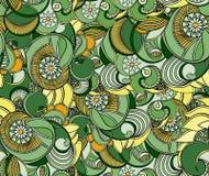 多彩多姿的花卉无缝的纹理,波浪 高雅背景 皇族释放例证