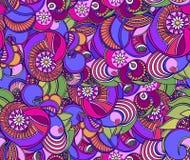 多彩多姿的花卉无缝的纹理,波浪 高雅背景 库存例证