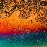 多彩多姿的荧光的肥皂泡摘要背景 免版税库存照片