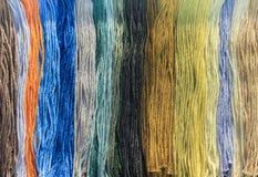 多彩多姿的螺纹绣花丝绒 免版税库存图片