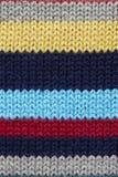 多彩多姿的被编织的fabrick 库存照片