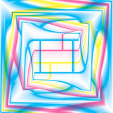 多彩多姿的计算机生成的螺旋分数维背景 库存图片