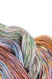 多彩多姿的计算机电缆 库存照片