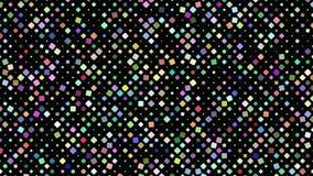 多彩多姿的转动的方形的背景-无缝的圈行动图表 库存例证