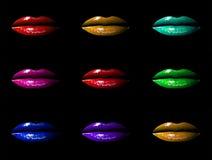 多彩多姿的嘴唇 库存图片