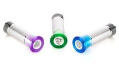 多彩多姿的LED手电 免版税库存图片