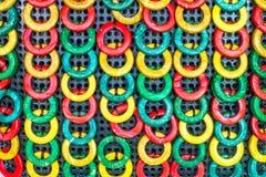 多彩多姿被排序的圈子 库存图片