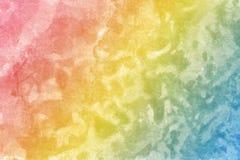 多彩多姿质地墙壁,桃红色与黄色和蓝色 皇族释放例证