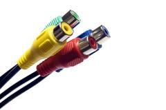 多彩多姿18个的电缆 库存图片