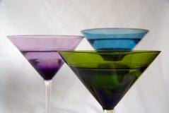 多彩多姿2块的玻璃 免版税库存图片