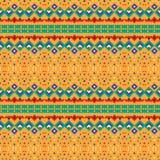 多彩抽象墨西哥样式 设计几何 库存图片