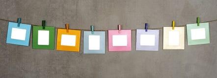 多彩色照片框架 免版税库存照片