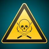 更多我的投资组合符号签署警告 死亡杀害抽烟的线索烟 小心-危险 下载例证图象准备好的向量 免版税库存图片