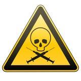 更多我的投资组合符号签署警告 毒瘾和艾滋病 小心-危险 下载例证图象准备好的向量 免版税库存照片