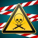 更多我的投资组合符号签署警告 毒瘾和艾滋病 小心-危险 下载例证图象准备好的向量 库存图片