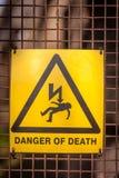 更多我的投资组合符号签署警告 库存图片