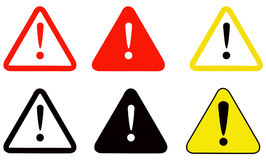 更多我的投资组合符号签署警告 向量例证