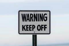 更多我的投资组合符号签署警告 免版税库存图片
