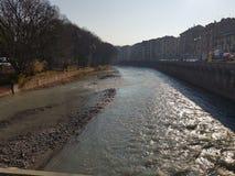 多拉河在都灵 免版税库存照片