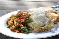 多数普遍的泰国食物 库存图片
