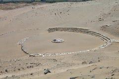多数突出的考古学站点, Caral,秘鲁 库存图片