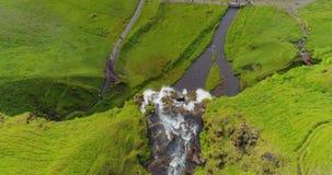 多数著名冰岛瀑布塞里雅兰瀑布 股票录像