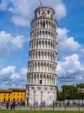 多数著名旅游胜地在比萨-斜塔-比萨意大利- 2017年9月13日 免版税库存照片