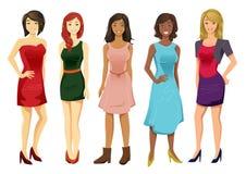 多文化妇女 库存例证
