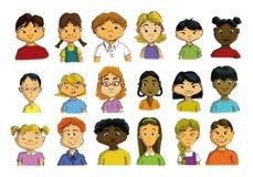 多文化孩子 免版税库存图片
