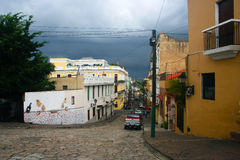 多明戈多米尼加共和国santo场面街道 库存图片