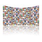 多显示的媒体 免版税库存图片