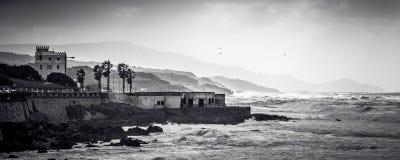 多暴风雨的天气在阿尔盖罗 图库摄影