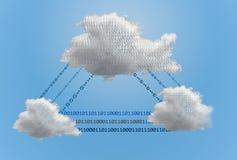 多朵计算的云彩的例证 免版税库存照片