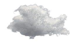多朵计算的云彩的例证 免版税图库摄影