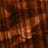 多棕色梯度补缀品漩涡 免版税图库摄影